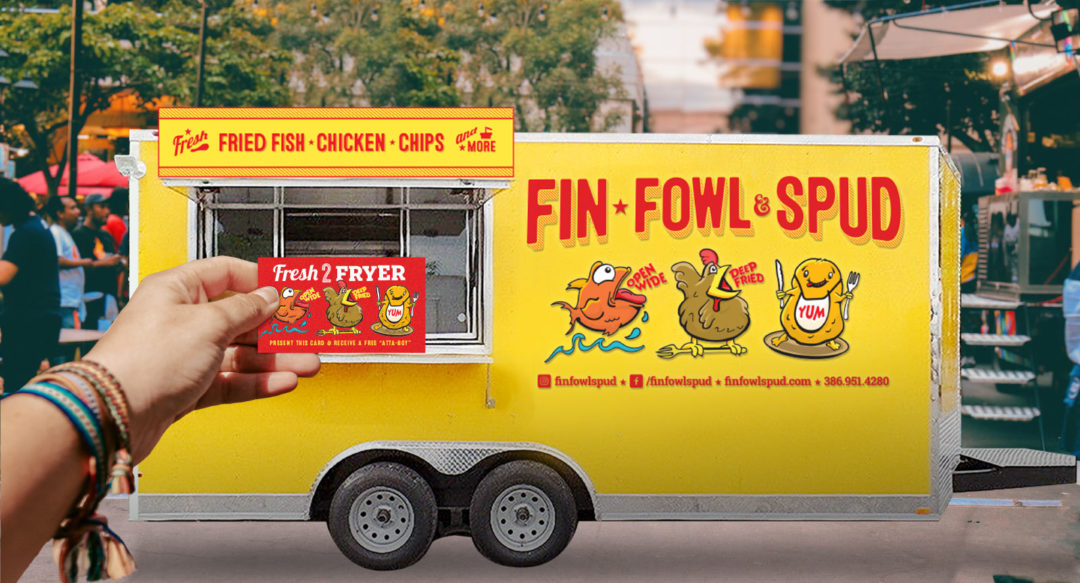 Food Truck Trailer Character Design