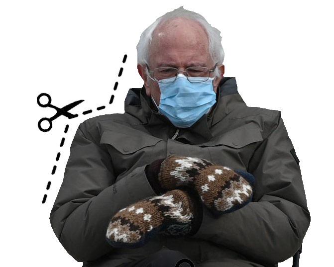 Bernie Sanders cutout image for your memes